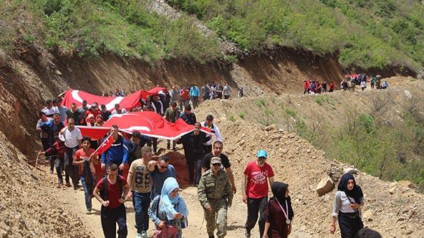 19 Mayıs'a özel Goman Dağı yürüyüşü yapıldı
