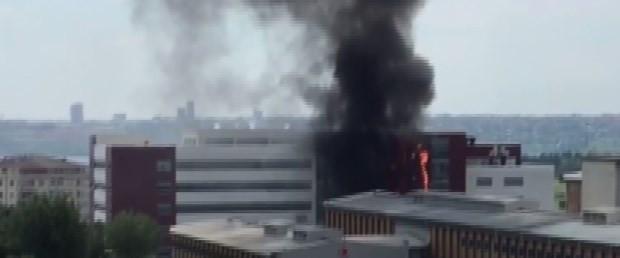 İstanbul'da devlet hastanesinde yangın paniği