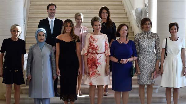 First Lady'ler NATO zirvesinde buluştu