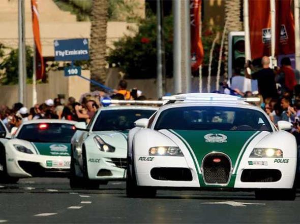 O ülkenin polisi Bugatti kullanıyor