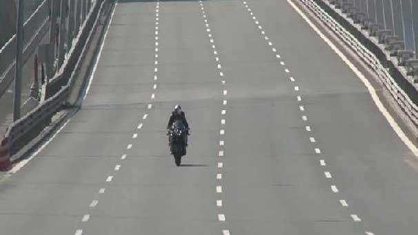 350 kilometre hızla köprüyü geçti