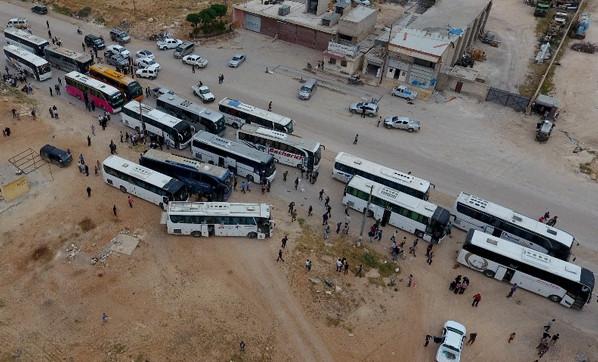 Tahliye konvoyu 8. kez Cerablus'ta
