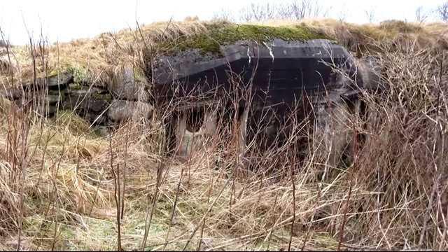 2. Dünya Savaşı'ndan kalma gizli sığınağın içi görüntülendi