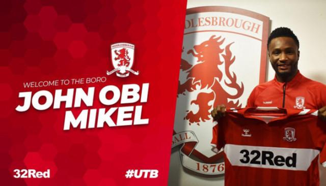Middlesbrough John Obi Mikel'i renklerine bağladı