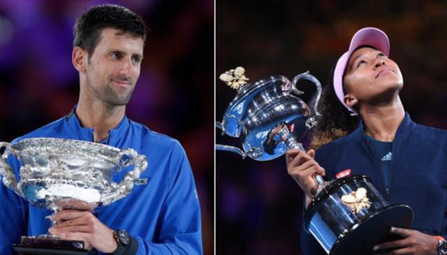 Novak Djokovic yerini korudu, Naomi Osaka zirveye çıktı