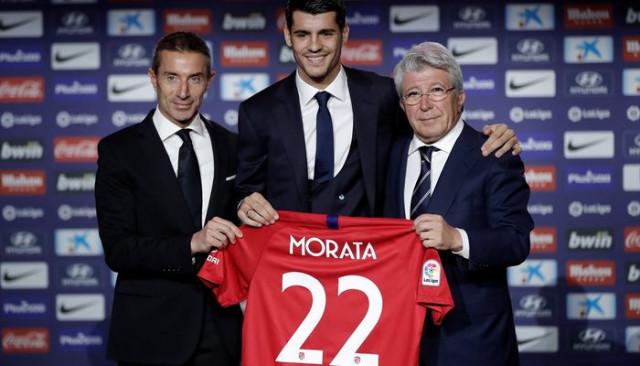 Atletico Madrid Alvaro Morata'yı basına tanıttı