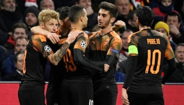 Ajax 0-1 Valencia UEFA Şampiyonlar Ligi (Maç sonucu)