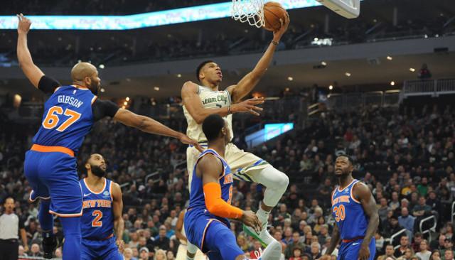 Milwaukee Bucks 132-88 New York Knicks (Giannis Antetokounmpo'dan 29 sayı, 15 ribaunt)