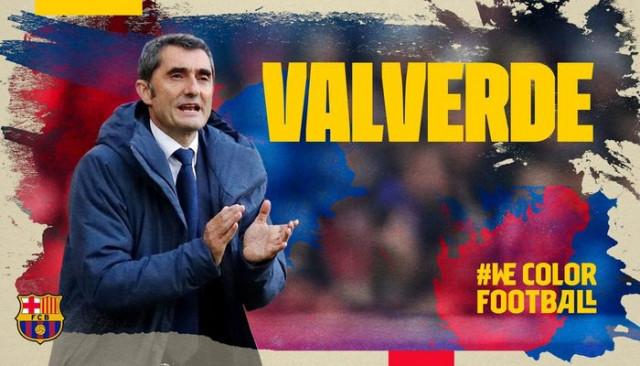 Barcelona Valverde'nin sözleşmesini uzattı
