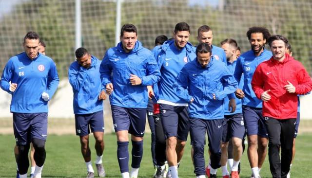 Antalyaspor Galatasaray hazırlıklarını sürdürdü