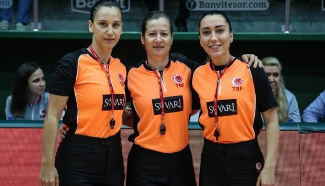 Tahincioğlu Basketbol Süper Ligi'nde ilk kez bir maçı 3 kadın hakem yönetti
