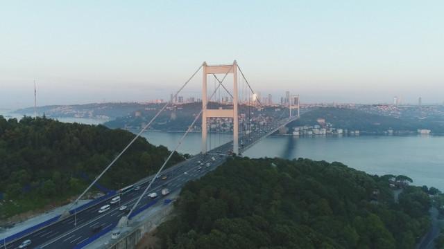 FSM Köprüsü'nde trafik çilesi bitti ! Son hali havadan görüntülendi