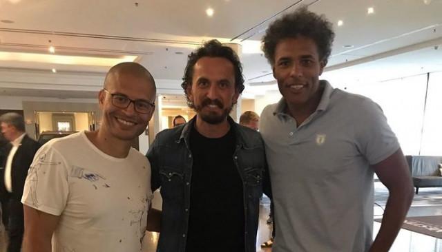 Alex, Tuncay Şanlı ve Van Hooijdonk Fenerbahçe'ye destek için Münih'e gitti
