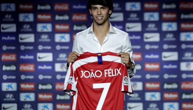 Atletico Madrid rekor transferi Joao Felix'i tanıttı