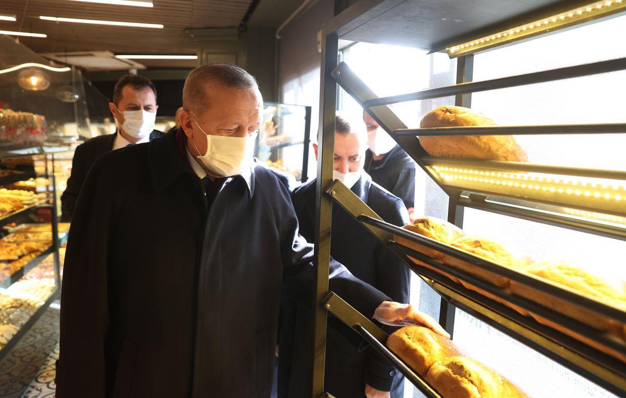 Erdoğan fırından alışveriş yaptı