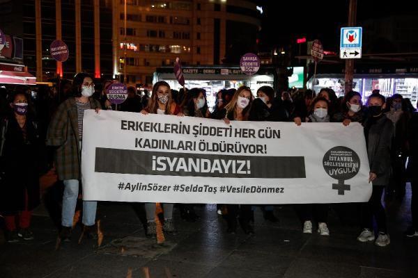Kadınlar İstanbul'da sokağa indi: ''İSYANDAYIZ!''