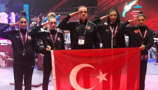 Kadın Tekvando Milli Takımı, Dubai'de şampiyon