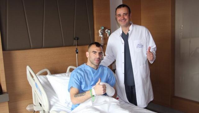 Parmağı kırılan Petar Skuletic ameliyat oldu