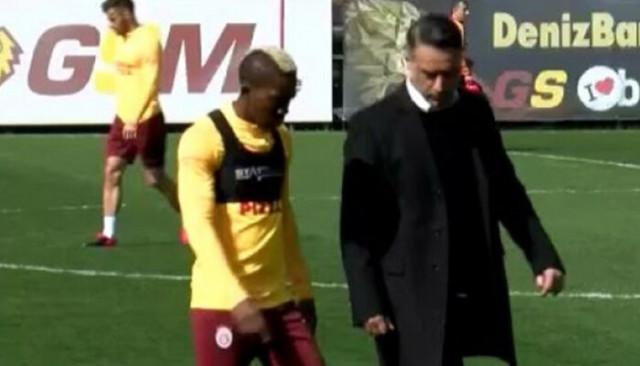 Galatasaray'da Henry Onyekuru idmana yarıda bıraktı