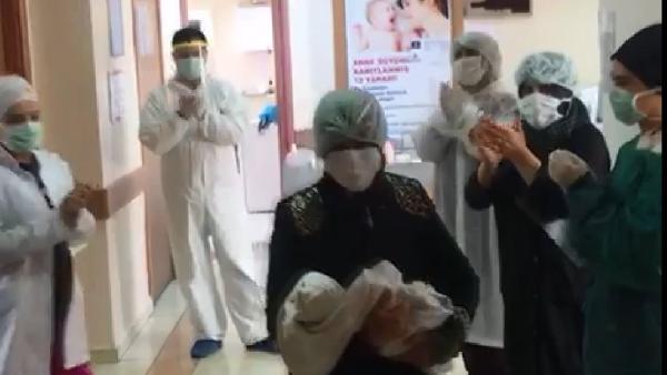 15 günlük bebek koronavirüsü yendi