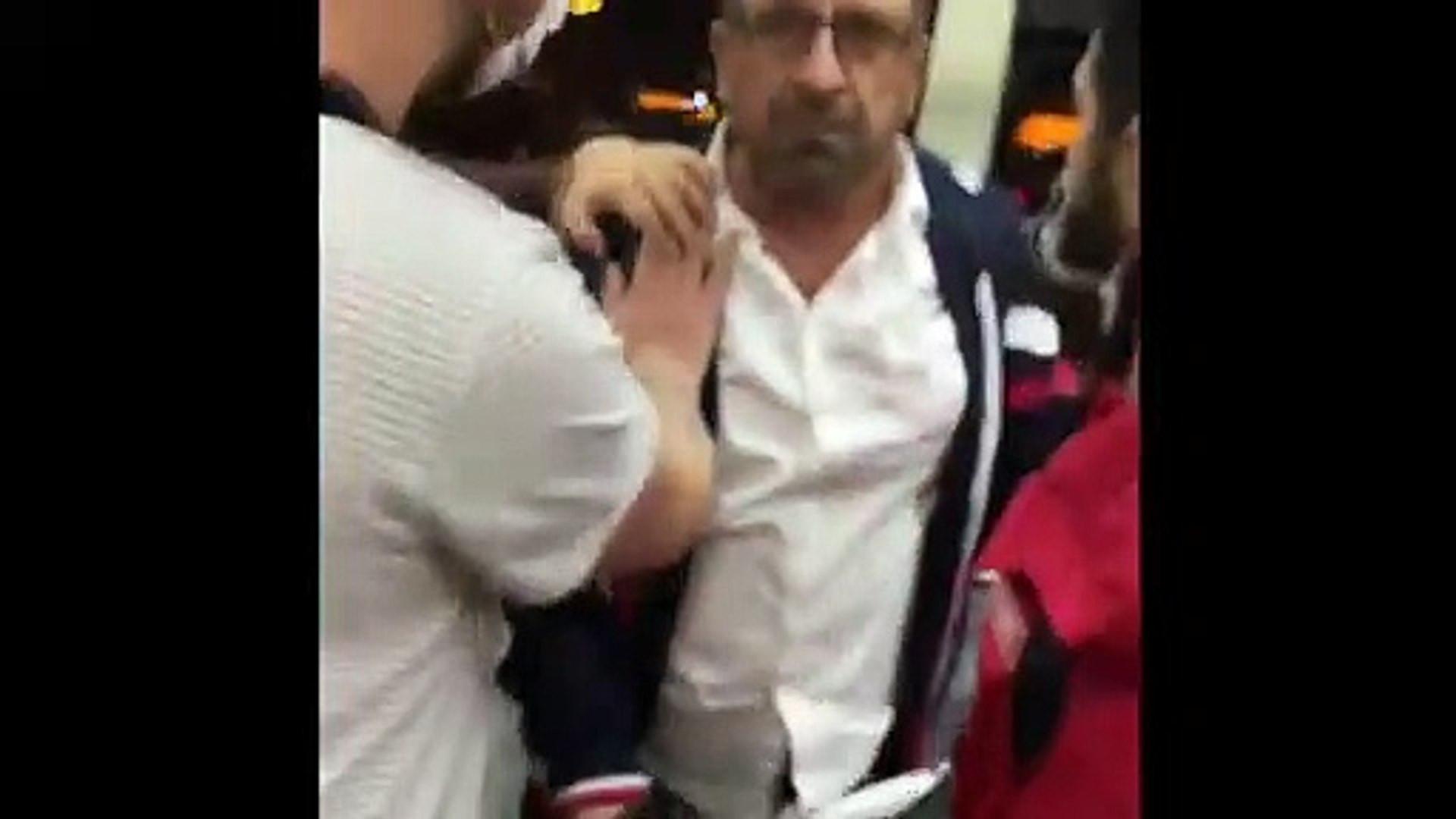 Otobüs şoförü ile kadın yolcunun kavgası kamerada!