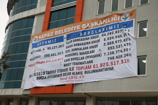 CHP'yi karıştıran borç afişi !